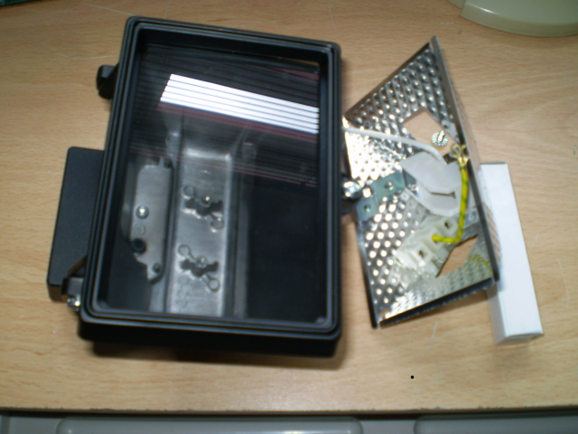 Floodlight disassembled